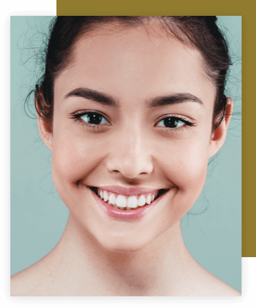 Woman smiling after cosmetic tooth contouring